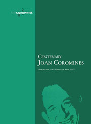 Centenary Joan Coromines
