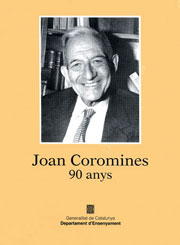 Joan Coromines, 90 anys