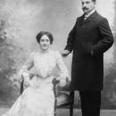 Casament de Pere Coromines i Celestina Vigneaux, 1902. Foto: Tellez, Madrid.